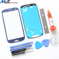 Синий Внешний Стекло для Samsung Galaxy S3 I9300 Замена Экрана Переднее Стекло Ремонт Комплект Черный Белый Красный Серый