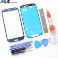 Azul Outer Glass para Samsung Galaxy S3 I9300 Reemplazo Del Vidrio Delantero Kit de Reparación Negro Blanco Rojo Gris