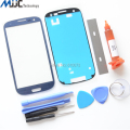 Blue Outer Glass for Samsung Galaxy S3 I9300 Replacement Screen Front Glass Repair Kit Black White Red Gray