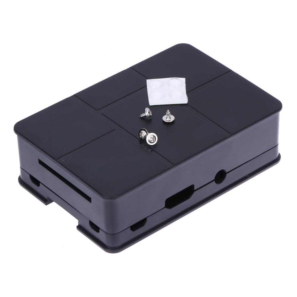 Original Black ABS Plastic Case Box Enclosure for Raspberry Pi 3 Model B + Screws