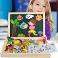 Детские развивающие игрушки раннего образования многофункционального головоломка двусторонняя чертежной доске головоломки бой весело доска для рисования