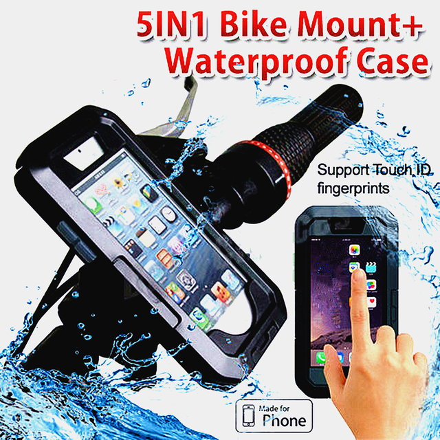 100% authentic 00344 da3c6 US $13.35 21% OFF|Outdoor Cycling Phone Support Waterproof Phone Case  Bicycle Handle Mounted Arm Wearing Swimming Diving Phone Case For iPhone-in  ...