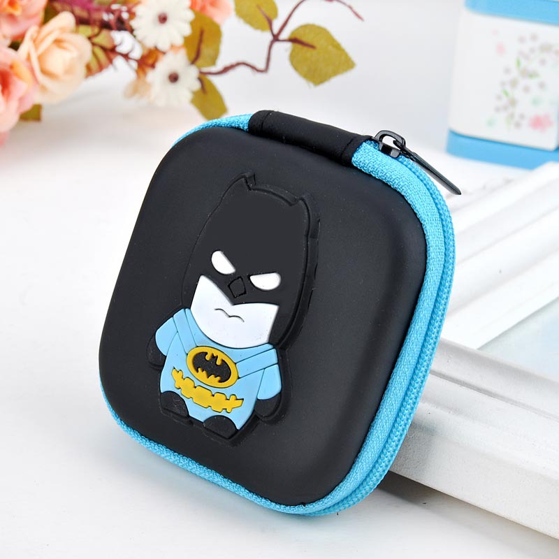 Mini Cute Wallet Anime Batman Silicone Coin Bag porte monnaie Cartoon Hero Headset Holder Purse Gift Men Women Coin Wallets 5 pcs lot cartoon anime wallet wholesale nintendo game pocket monster charizard pikachu wallet poke wallet pokemon go billetera
