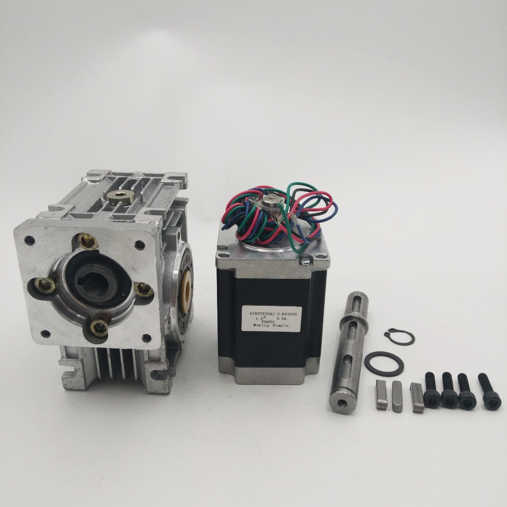Ratio 20:1 self-lock High-Torque L76mm NEMA23 3A RV30 Turbine Worm Gearbox Geared Stepper Motor Decorating machine 57mm planetary gearbox geared stepper motor ratio 10 1 nema23 l 56mm 3a