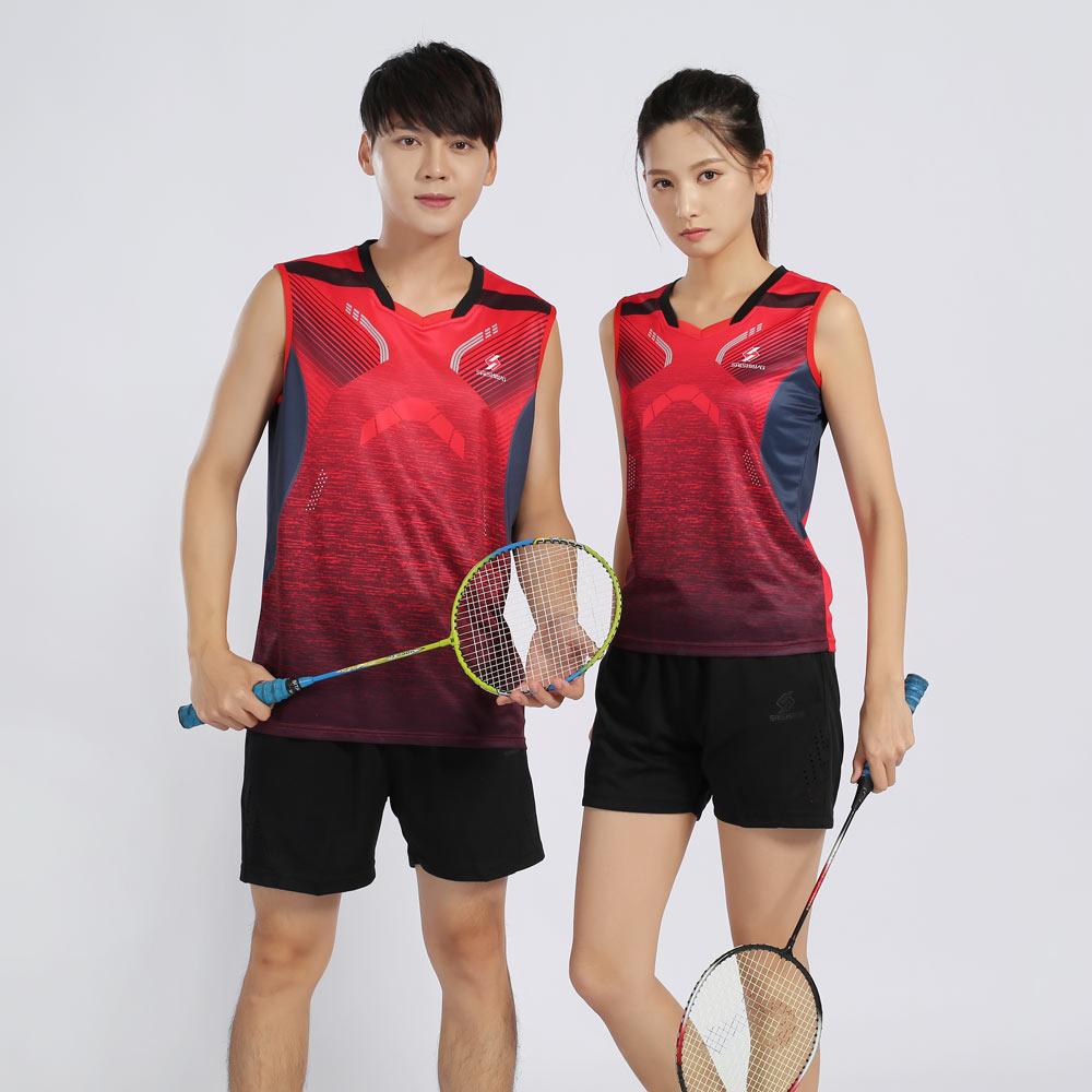 Tênis de Desgaste-secagem T-shirt + Calções de Ténis de Mesa Adsmoney Novos Casais Badminton Rápida Roupas Sportswear Aptidão