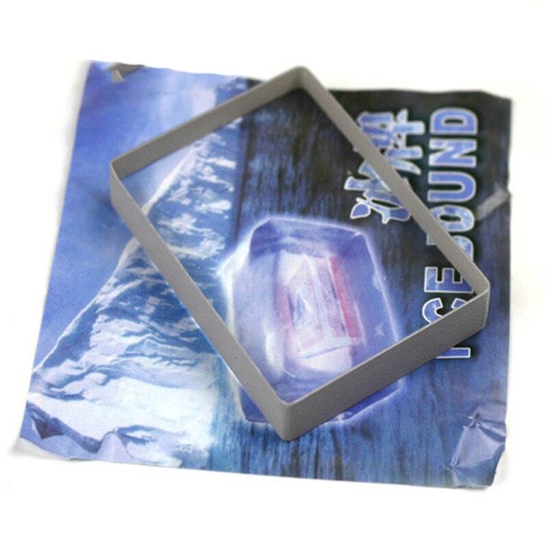 Omni Deck Glass Card Deck Ice Bound Magic Tricks Close Up Card Illusion Accessories Gimmick Sign Card To Clear Block Magic