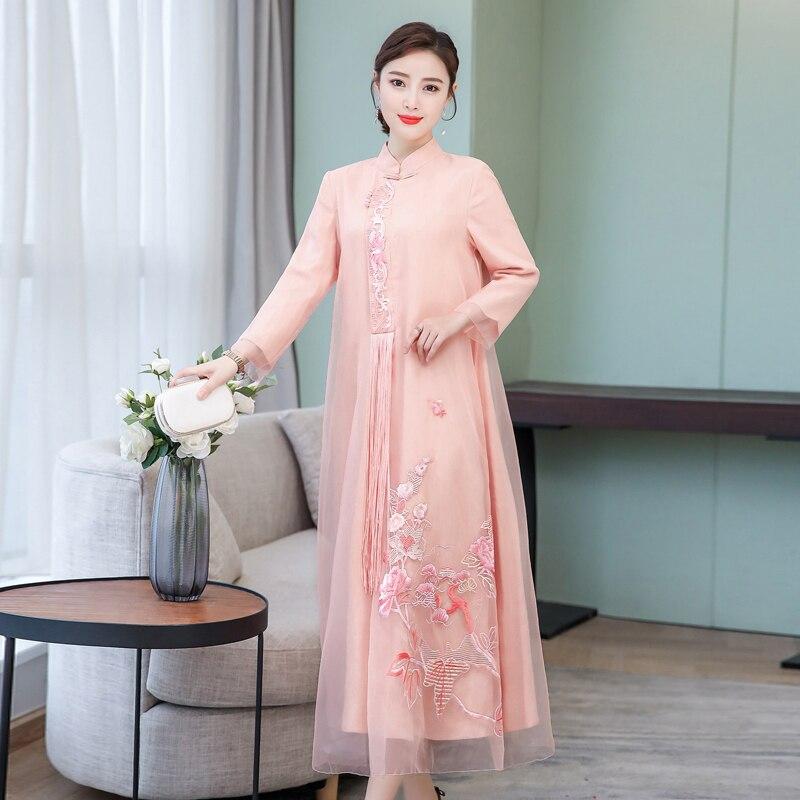 2019 verano vestido chino chica vestido de dama de honor vestidos de fiesta boda mejorado las mujeres qipao cheongsam elegante baile de graduación vestidos - 4