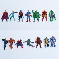 Yeni varış marvel karikatür yıldız süper kahraman 3.8 cm aksiyon figürleri rastgele karışık