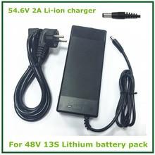 54.6 V 2A cargador de iones de litio de 48 V 2A cargador de Batería DC Socket/conector de 48 V 13 S de Litio Ebike batería