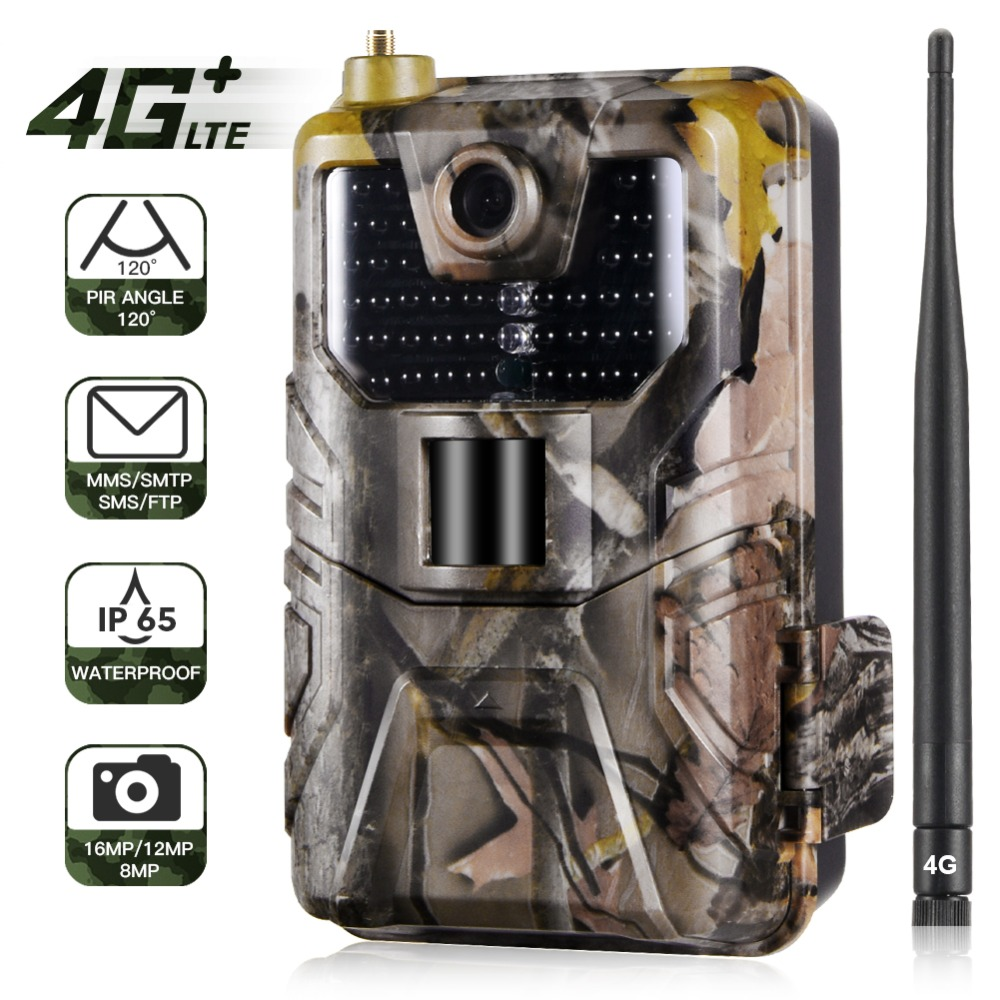 HC-900LTE 4G Hunting Camera 16MP 1080P MMS/SMS/SMTP/FTP Trail Camera IP65 0.3s Photo Traps 940nm Infrared LED Scout Wild Camera