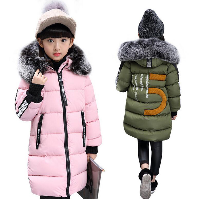 winter warm jacket for girls cotton-padded down jacket kids parka real fur hooded children outerwear coats for girl clothing new 2017 men winter black jacket parka warm coat with hood mens cotton padded jackets coats jaqueta masculina plus size nswt015