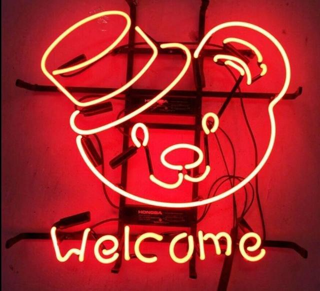 Custom Welcome  Neon Light Sign Beer Bar