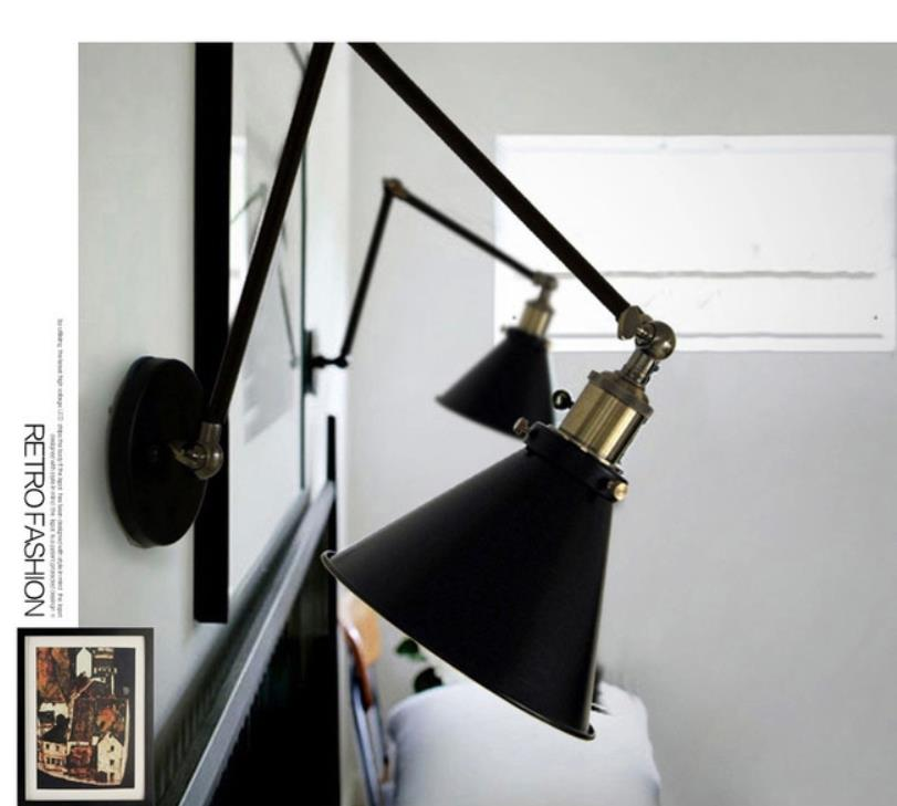 Industrial Vintage Wall Lamps Simple style Wall Lights LOFT Little Umbrella Double Arm Bedside Lamp Restaurant Light FixturesIndustrial Vintage Wall Lamps Simple style Wall Lights LOFT Little Umbrella Double Arm Bedside Lamp Restaurant Light Fixtures
