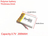 Wholesale 10 Pcs 3 7V 200mAh Lithium Polymer LiPo Rechargeable Battery For Mp3 Mp4 DIY PAD