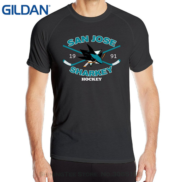 da6b8860a GILDAN New Man Design T-shirt Print Annabelle Men s San Joses Shark Short  Sleeve Sportsy Summer T-shirts Black