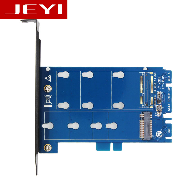 JEYI SK2 NGFF M.2 SATA TO SATA3 adapter card dual interface two with conversion card High Speed SATA3 Support ALL Size