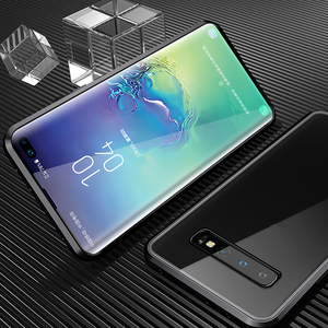 Image 5 - Magnetic Metal 360 Glass Case for Samsung S10 5G S9 S8 Plus Note 9 8 A7 A9 2018 A50 A60 A70 A30 A80 2019 Full Protective Cover