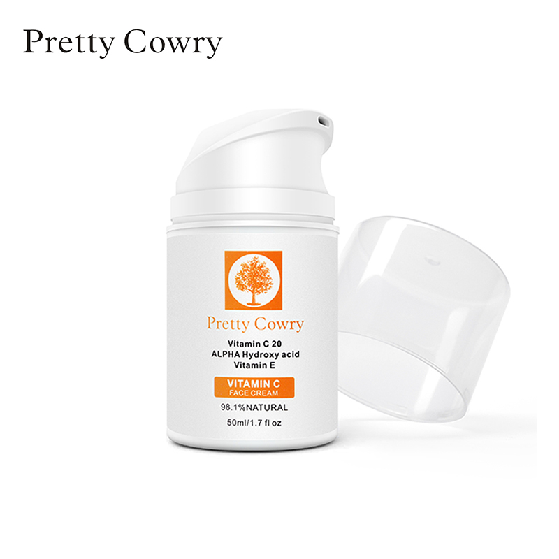 PRETTY COWRY Vitamin C  Remove Acne Anti Wrinkle Skin Care Natural Serum Remove Acne Facial Cream Hyaluronic Acid