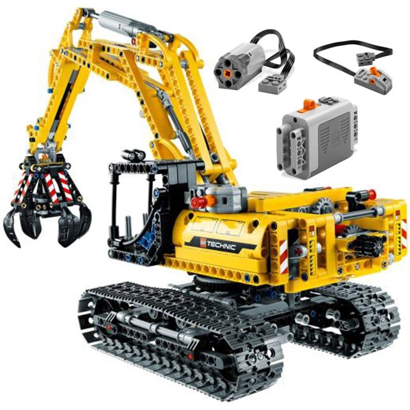665pcs Technic Engineering Lifting Crane Building Blocks