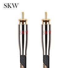 SKW كابل الصوت من النوع rca ذكر إلى ذكر مضخم الصوت الرقمي محوري 6N OCC 1 م ، 1.5 م ، 2 م ، 3m ، 5 م ، 8 م ، 10 م ، 12 م ، 15 م للسيارة جهاز تضخيم الصوت