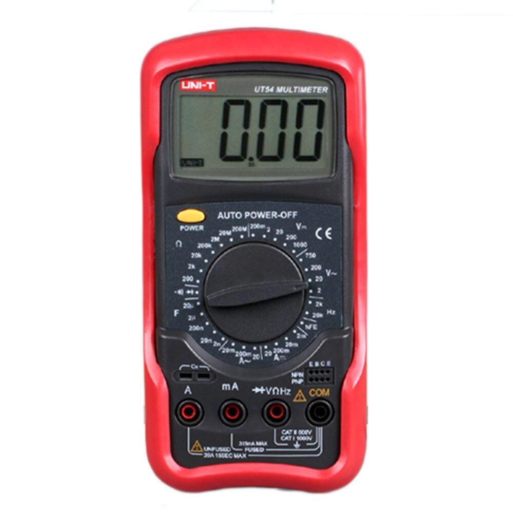 Digital Multimeters UNI-T UT54 DC AC Current Voltage Resistance Meter Tester Ammeter Voltmeter Ohmmeter Multimetro  Multitester  цены