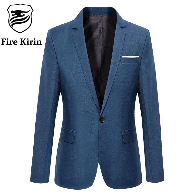 Fire Kirin Men Blazer 2017 Cheap Suit Jackets Korean Fashion Luxury Designer
