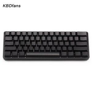 Image 4 - White Black Orange blue  Blank Thick PBT OEM Profile 61 ANSI Keycaps For MX Switches dz60 gh60 Mechanical Keyboard