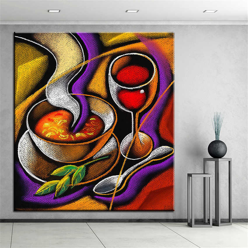 √Impresión de gran tamaño pintura al óleo vapor pintura de pared ...
