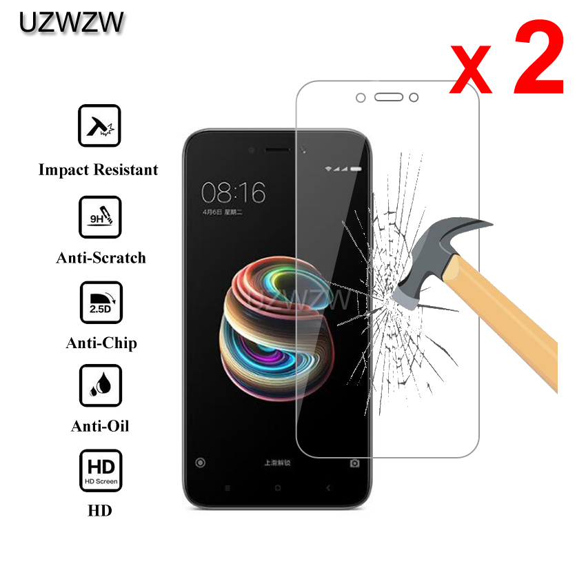 2pcs For Xiaomi Redmi 5A Premium 2.5D 0.26mm Tempered Glass Screen Protector For Xiaomi Redmi 5A Protective Glass
