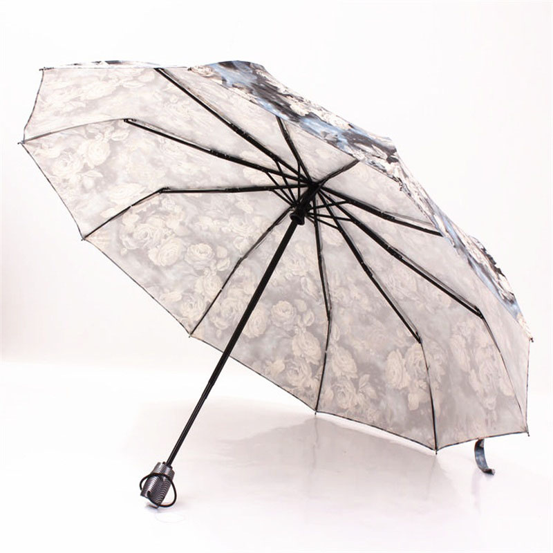 Image 5 - New Fully Automatic Compact Anti UV Rain Sunshine Windproof Umbrellas Big Strong For Two People For Women Ladies Fashion parasol-in Umbrellas from Home & Garden