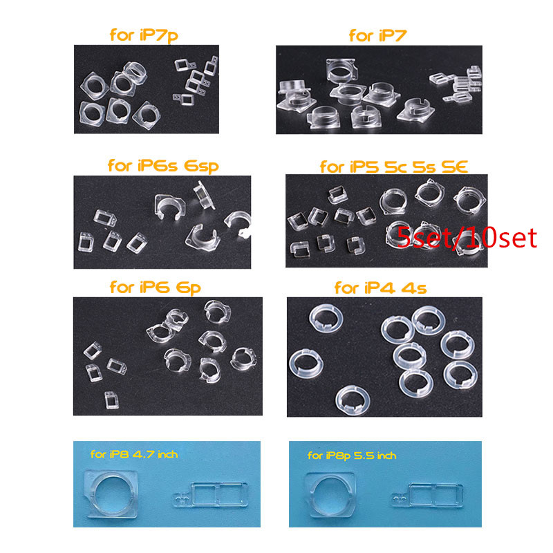 10sets/5sets for iPhone 7 8 6 6S + Plus 5 5C 5S SE 4 4S Front Camera Plastic Cap Seal Bracket Ring+Light Sensor Circle Holder