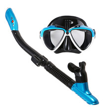 Lixada Snorkeling Mask Snorkel Tube Set Anti-fog Swimming Diving Goggles with Easy Breath Dry Snorkel Tube Snorkeling Goggles(China)