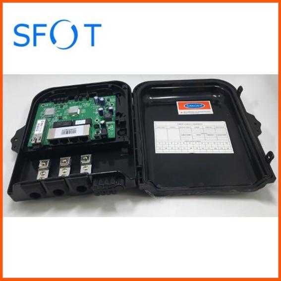 4 ports Poe Inverse EPON ONU de carte pcb avec boîte d'arrêt de FTTH imperméable IP65 boîte