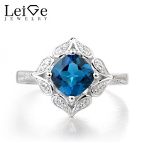 c8cf0b9b869b Leige Jewelry London Blue Topaz Ring Topaz Wedding Ring 925 Sterling Silver  Vintage Ring November Birthstone