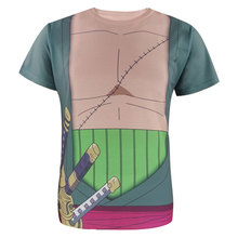 One Piece Men Roronoa Zoro 3D T Shirt Luffy Burukku Short sleeve