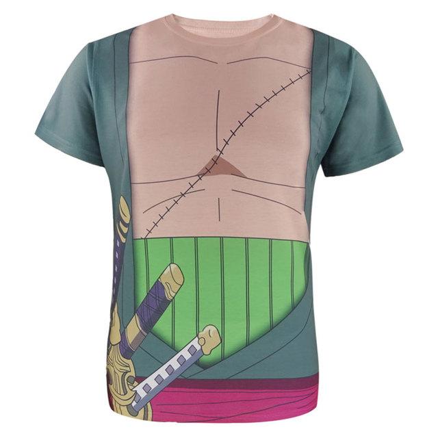 One Piece Men Roronoa Zoro Anime 3D Print Casual Fashion Short sleeves Men's T-Shirt