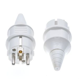 4000W Waterproof IP54 EU Plug Industrial Electric Power Male Schuko Plug Rewireable Socket Outlet Adaptor Extension Cord(China)