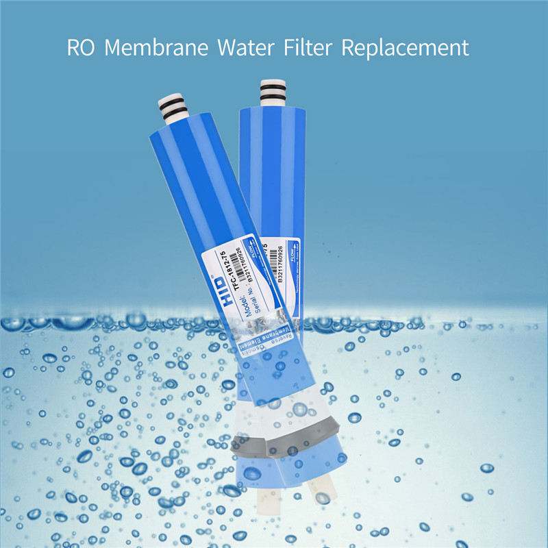 75 GPD Water Filter Replacement 5 Stage Reverse Osmosis RO Membrane Water Filtration System Filter Purifier Water Drinking