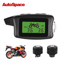 100% Original Wireless Motor TPMS Tire Pressure Monitoring Alarm System Motorcycle External Sensor Bluetooth Moto Tyre LCD Part