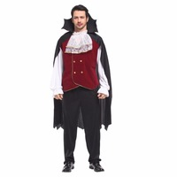 Shanghai Story Adult Men European American Cosplay Uniform Halloween Devil Cosplay Costumes Vampire Count Masquerade Clothes Set