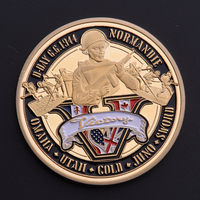 The Normandy Invasion 70th Anniversary Coins Commemorative Coin Alloy gold plating Coin Souvenir BTC342