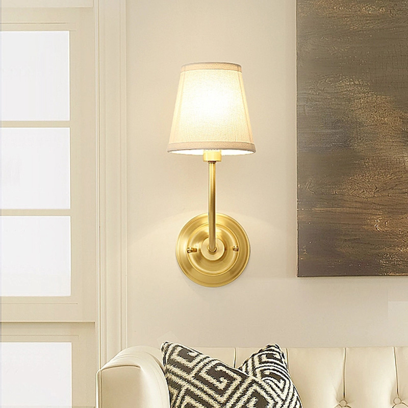 Copper Wall Light Sconce E27 Brass Wall Lamp Modern For Bedroom Dinning Room Restroom Hotel Home Decoration Mounted LampsCopper Wall Light Sconce E27 Brass Wall Lamp Modern For Bedroom Dinning Room Restroom Hotel Home Decoration Mounted Lamps
