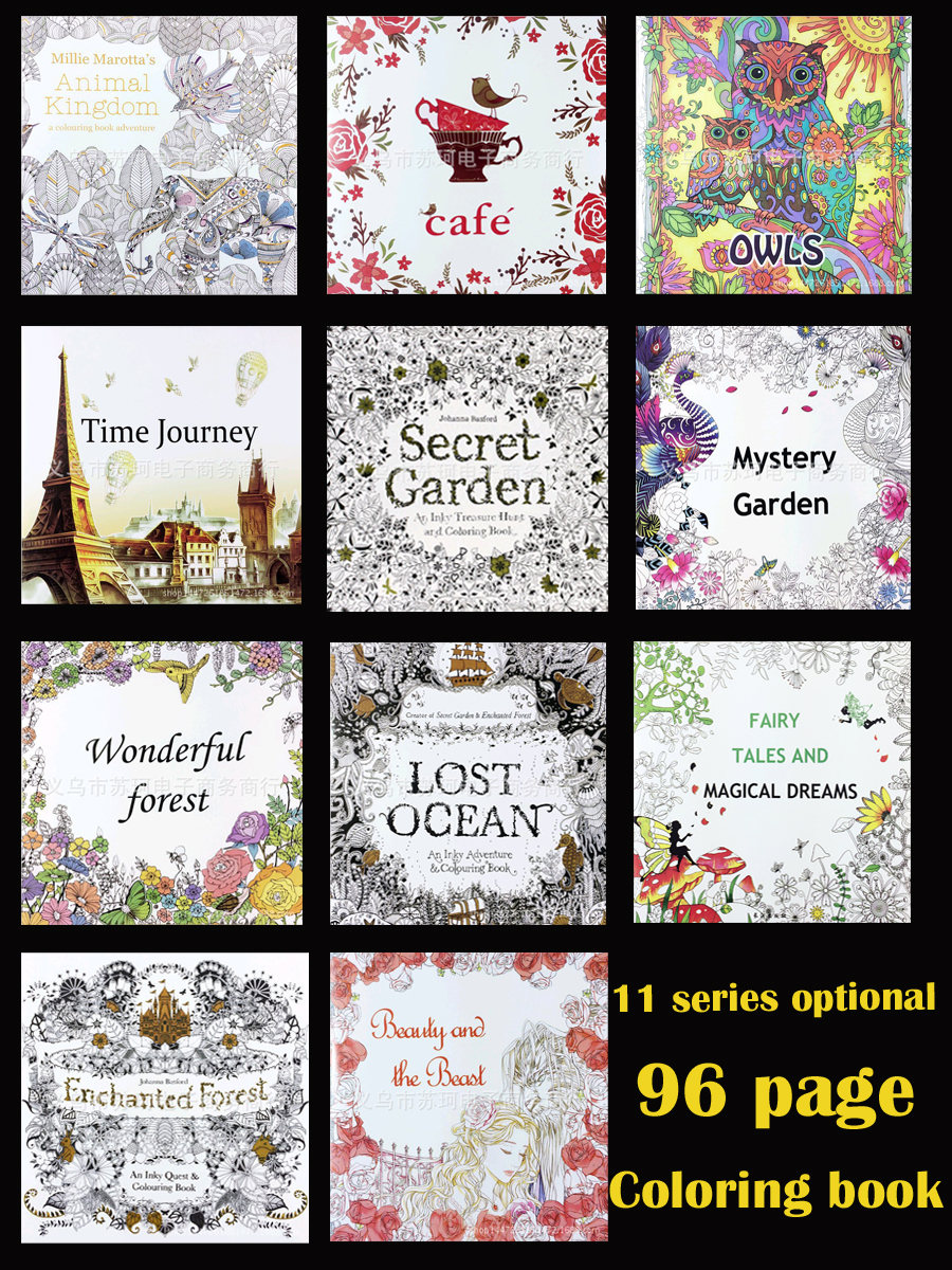 (11 optional) 1 PCS secret garden coloring Animal Kingdom decompression coloring the coloring of the secret garden coloring book tropical wonderland 30 pages english secret garden rainforest large size postcard coloring book painting graffiti decompression