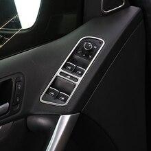 4pcs/set Auto interior mouling window lift button cover trim sticker Fit For VW Tiguan 2013 2014 2015 accessories