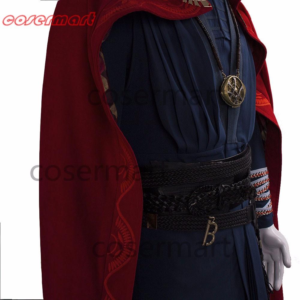2016 Marvel Movie Doctor Strange Costume Cosplay Steve Full Set Costume Robe Halloween Costume (5)_