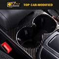 Free Shipping Rear Cup Decoration Covering Carbon Fiber Interior Trims for porsche macan