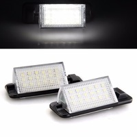 2X Waterproof 18SMD White Color Auto License Plate Light 7000K 3528 SMD Car Error Free Plate