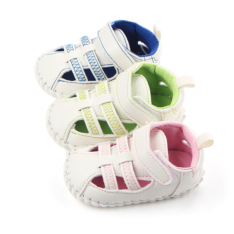 Summer Newborn Prewalker Rubber Sole PU Leather Anti-skid Baby Boy Girls Infant Toddler Breathable Casual Shoes Sport Sneaker