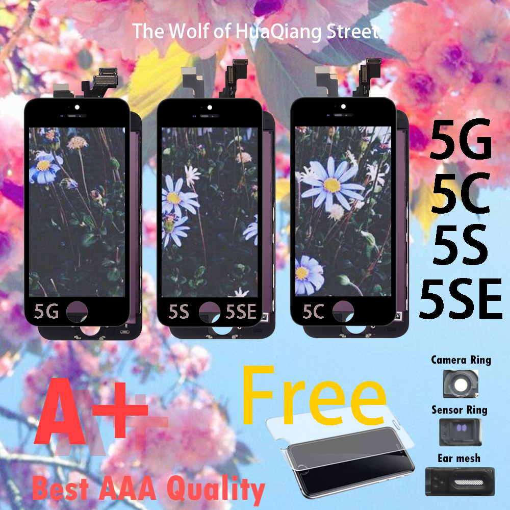 AA Quality LCD For IPhone 5G 5C 5S 5SE LCD Display Assembly With Touch Screen Replacement Digitizer For Apple 5 Se C G S