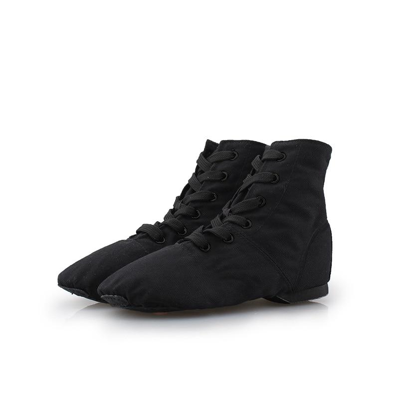 Cipele Jazz Cipele Žene Visoke Gornje Mekano Dno Kungfu Cipele Ženske Cipele za plažu Canvas Fitness Joga Cipele Boot Ballet